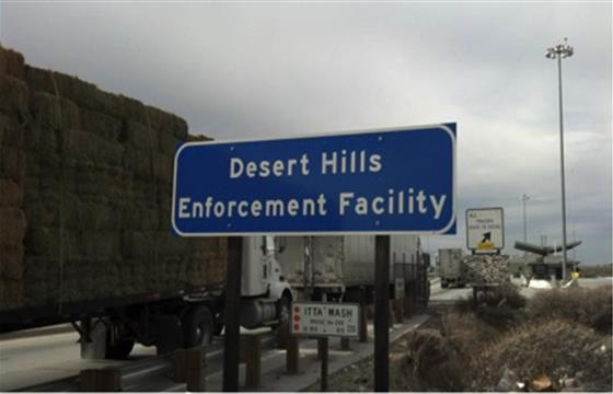 Exterior photo of DesertHills Commercial Vehicle Enforcement Facility
