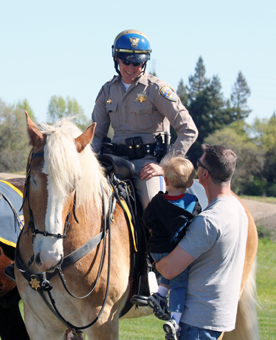 Officer on horse