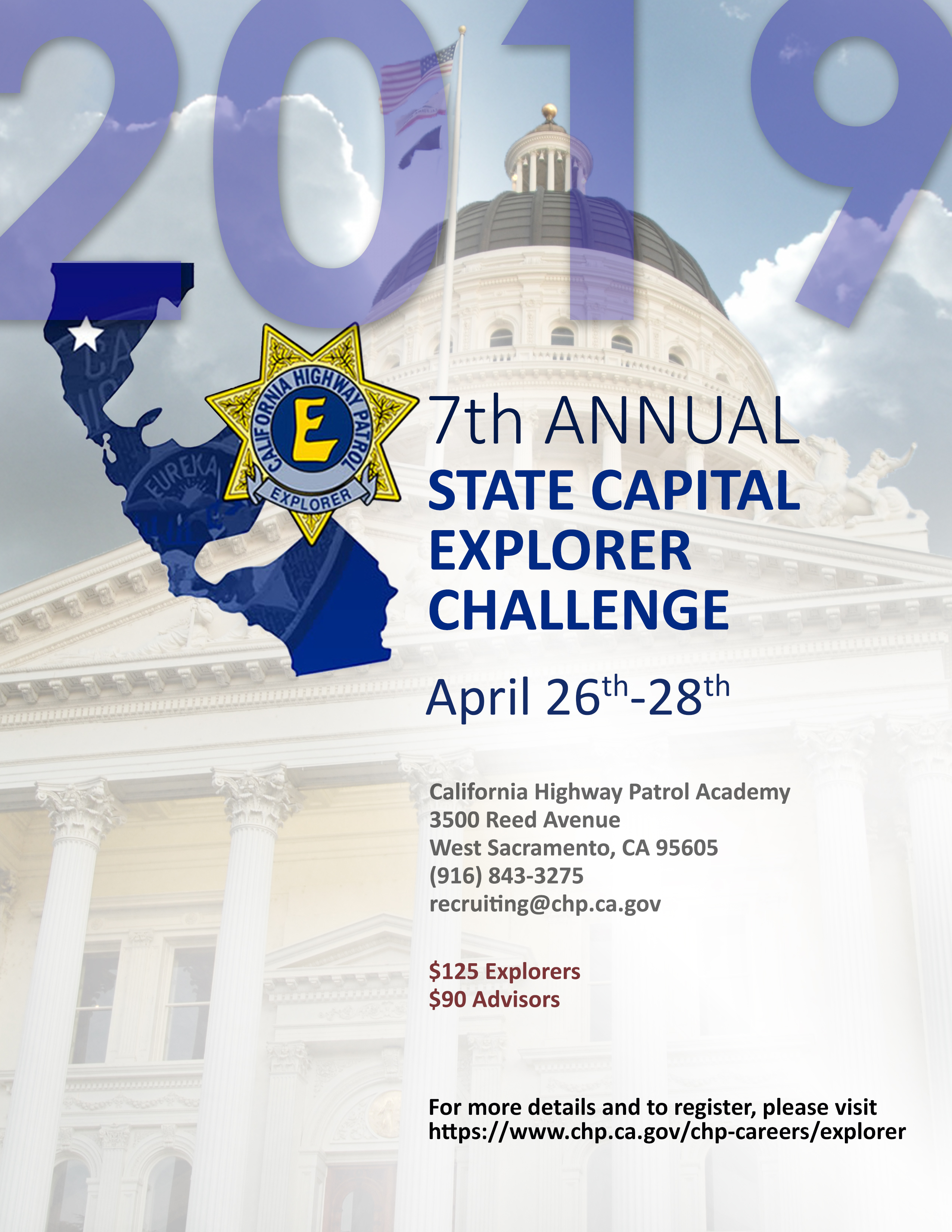 The 7th Annual State Capital Explorer Challenge's Poster