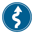 Windy road icon
